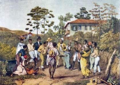 Rugendas, pintor alemão que viajou pelo Brasil entre 1822-1825, pintou os rituais do batuque.