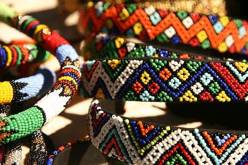 Artesanato africano.