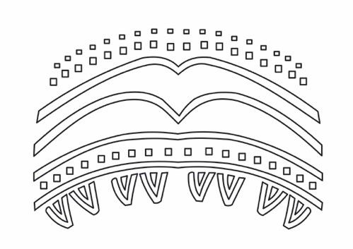 Elemento composto complexo com ornamentos da parte superior da máscara