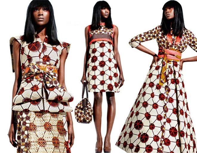 Estampa com identidade africana, exemplos de aplicações.