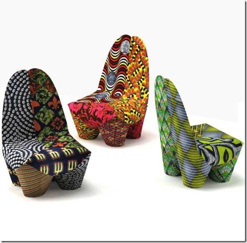 Poltrona Binta, criação do Designer suíço Philippe Bestenheider.