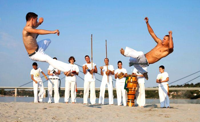 Capoeiristas.