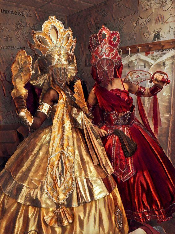 Vestimenta de Oxum e Iansã.
