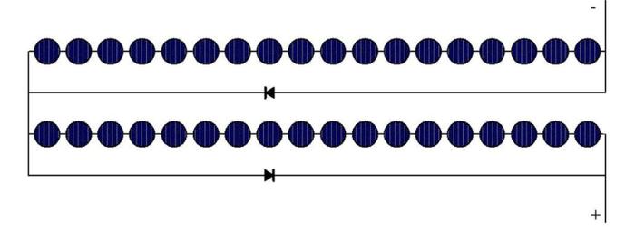 Conexão dos diodos de desvio