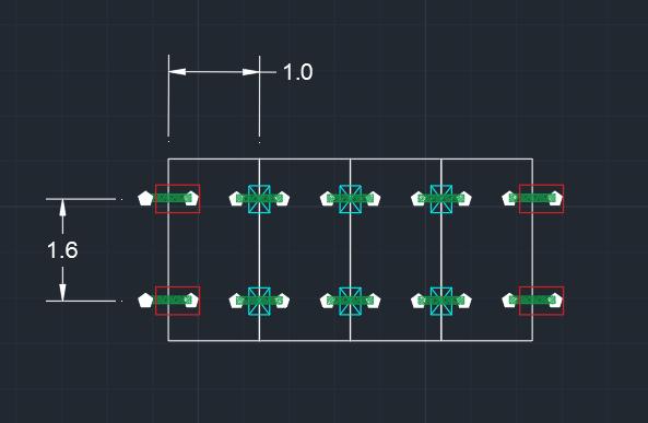 Distanciamento de instalação entre suportes