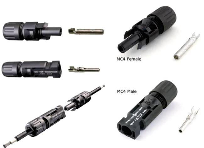 Detalhe do Conector MC4