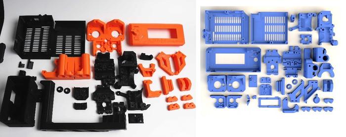 Kit das peças impressa em ABS pela própria impressora