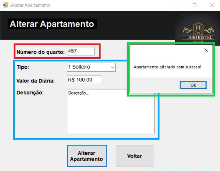 Alterar apartamento