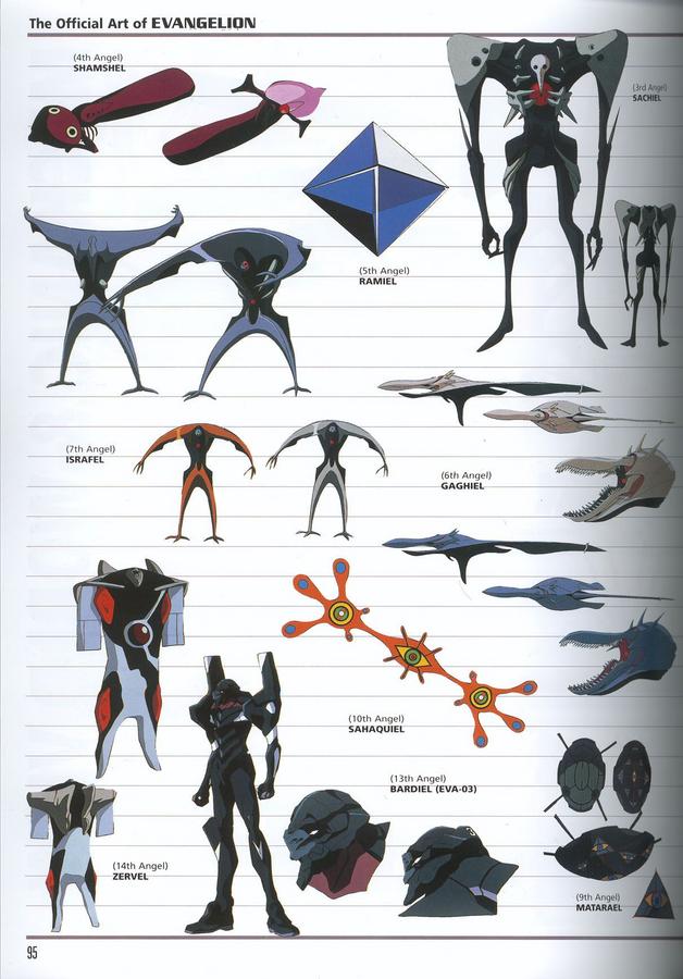 Alguns Anjos de Neon Genesis Evangelion