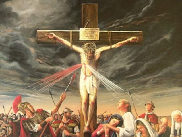 Jesus Cristo Sendo Perfurado Por Longinus