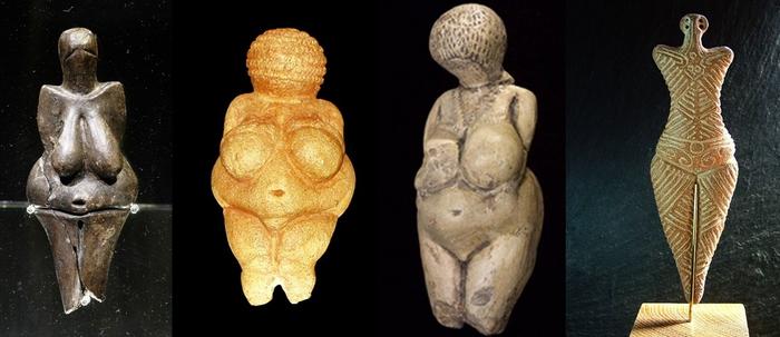 Diversas estátuas de Vênus Paleolíticas